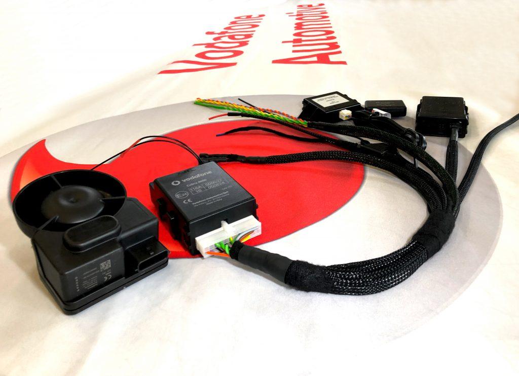Vodafone Cobra Alarmanlage Kabelbaum Diebstahlwarnanlage Neigungssensor Radarmodul Innenraumüberwachung Räderüberwachung GPS Ortungssystem Fahrzeugüberwachung